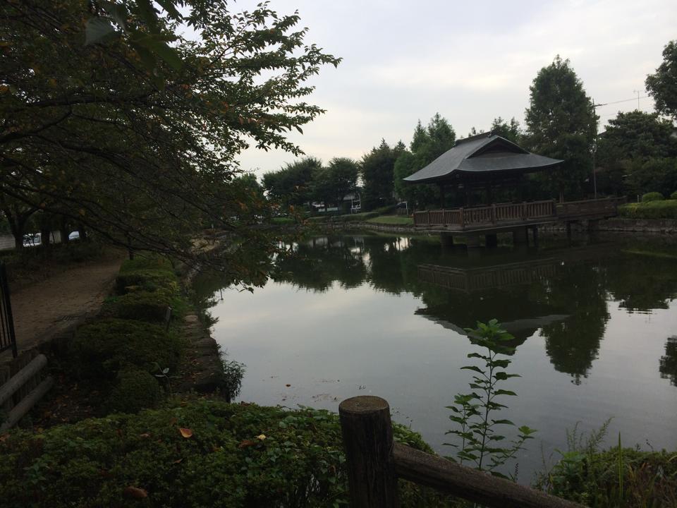 昼夜逆転なおろう会 上沼公園 あずまやのある風景