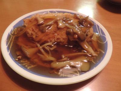 豆腐ハンバーグ餡かけ