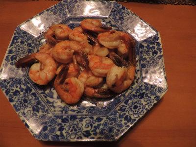 6.22海老のガーリックオイル炒め