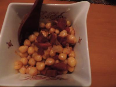 6.22ひよこ豆とチェリソーの炒め物