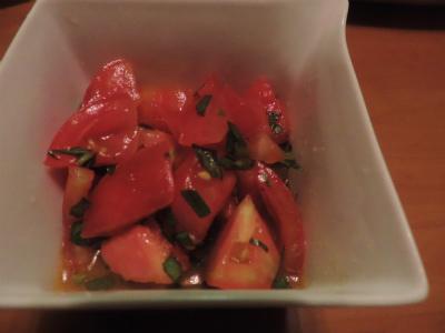 7.19トマト・バジルのサラダオイル和え