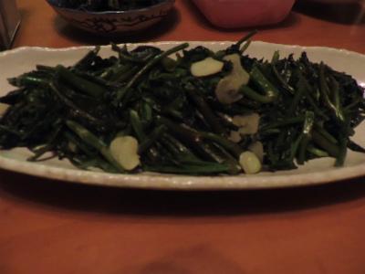 7.19空心菜の炒め物
