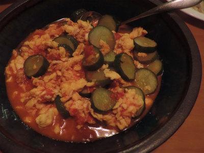7.27トマト・キュウリ・卵の炒め物