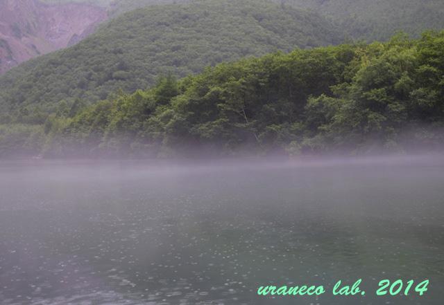8月25日雨の大正池3