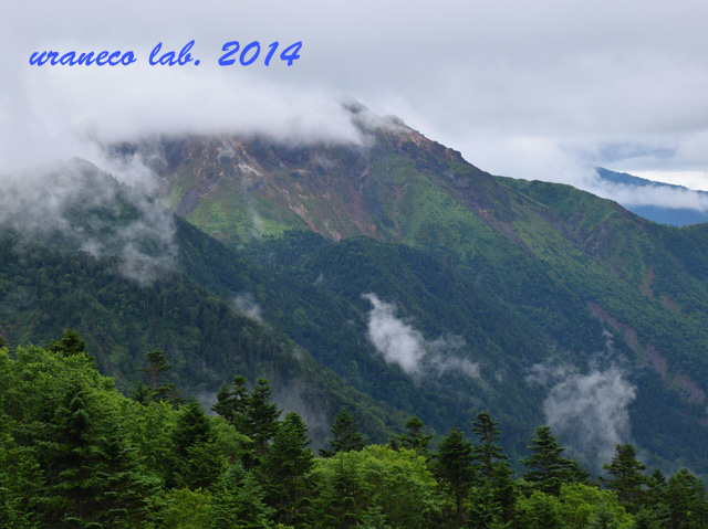 8月25日焼岳と乗鞍岳