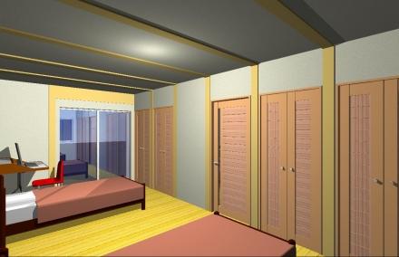 木の香り 内観子供室 家具