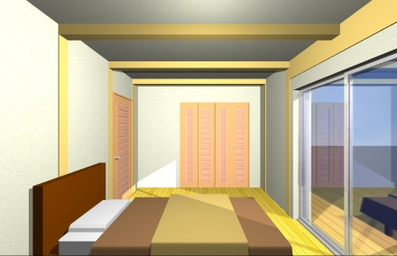 木の香り 内観主寝室 家具