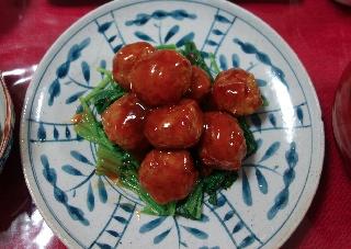 肉だんごの甘酢あん602