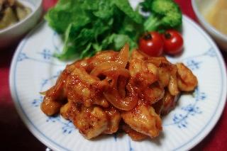 チキンのケチャップ炒め0415