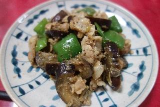 豚肉となすの味噌炒め0422