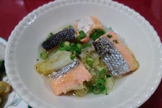 塩鮭と白菜の蒸し煮421