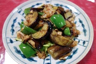 豚肉とナスのオイスターソース炒め604
