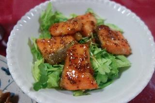 鮭のマーマレード焼きサラダ701