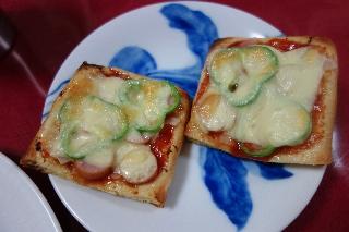 お揚げのピザ706