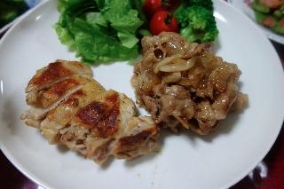 生姜焼き&チキンソテー