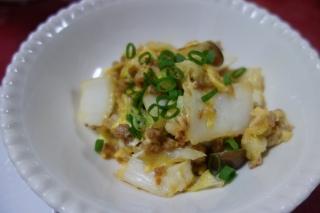 白菜の卵炒め923