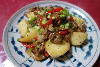豚肉と長芋のオイスターソース炒め1008