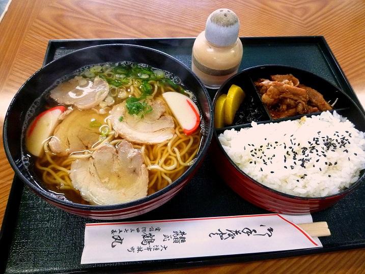 鶴丸中華そば定食3