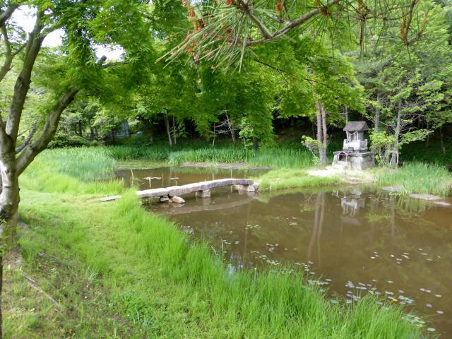 弁財天池の石橋1