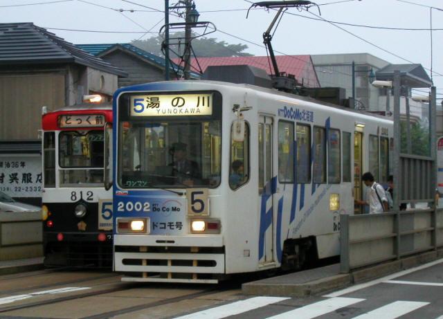 函館の路面電車a