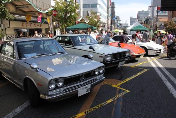 名車の展示