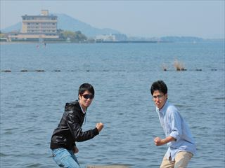 琵琶湖だー!