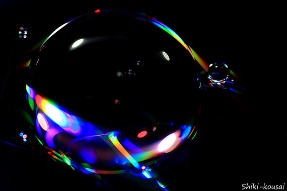光の水玉写真