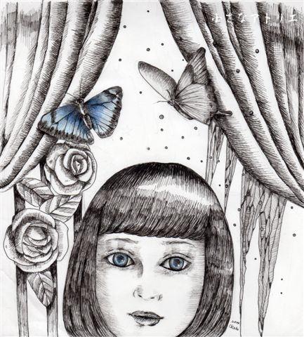 小さなアトリエ 北京の蝶