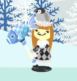 冷凍魚とペンギン帽