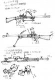 ソ連製軽機関銃と重機関銃_スケッチ