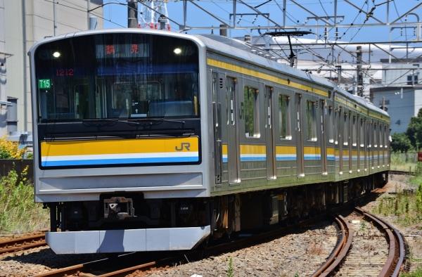 2014年8月7日 JR東日本鶴見線 浜川崎~武蔵白石 205系ナハT15編成