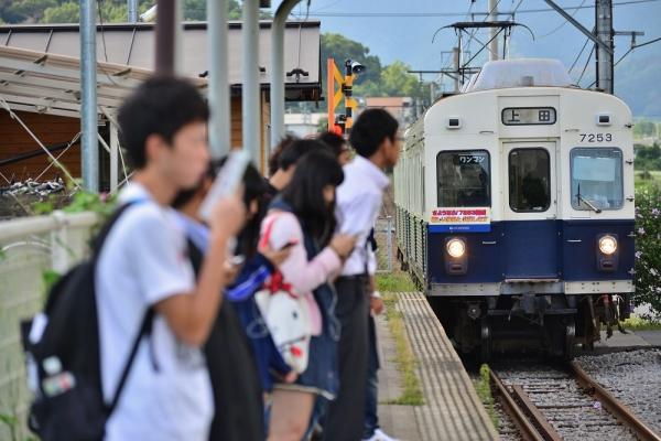 2014年9月3日 上田電鉄別所線 寺下 7200系7253F