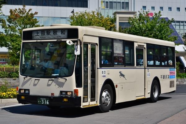 2014年9月9日 千曲バス青木線 上田駅 316号車
