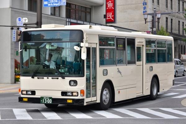 2014年9月10日 千曲バス青木線 松尾町~上田駅 1300号車