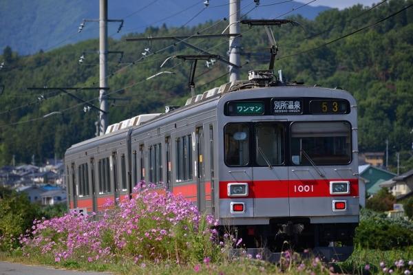 2014年9月27日 上田電鉄別所線 中野~舞田 1000系1001F