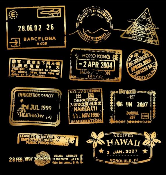 出入国スタンプ デザイン Immigration stamp