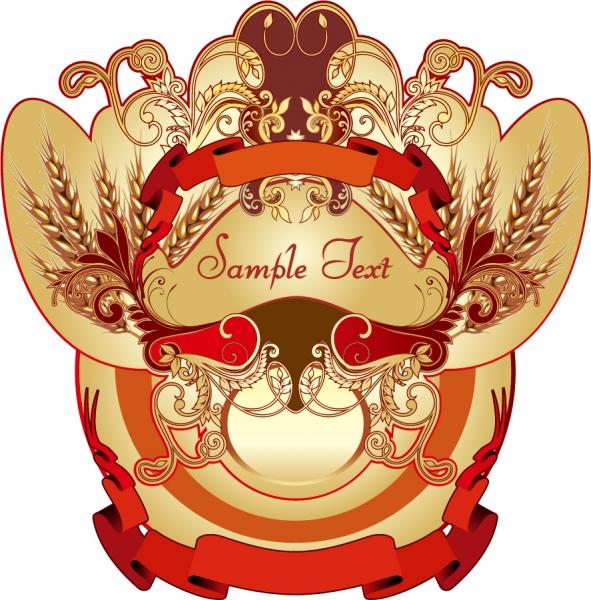 ヨーロッパ スタイルのラベル デザイン European-style label pattern1