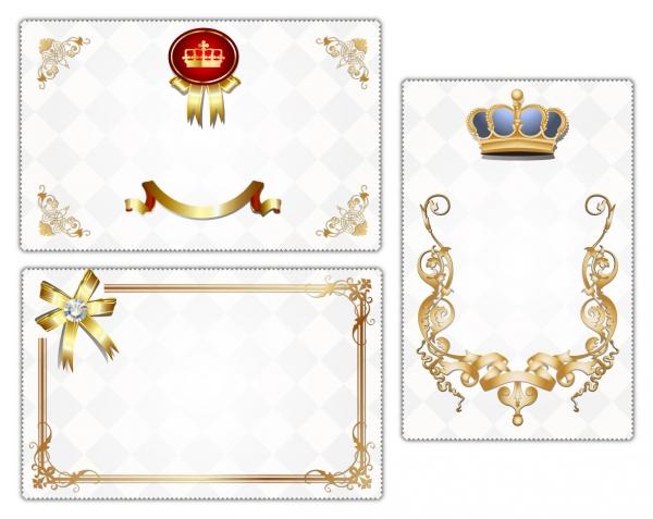 王冠と金の縁取りが美しいカード デザイン crown lace exquisite card background1