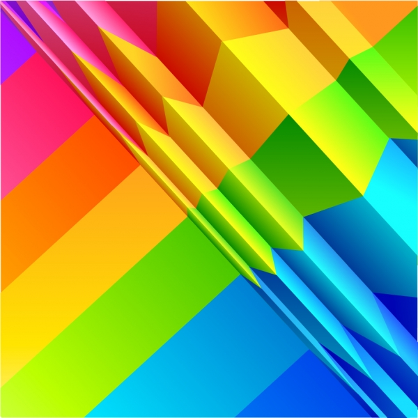 カラフルな虹色の折り紙 Colorful rainbow background design