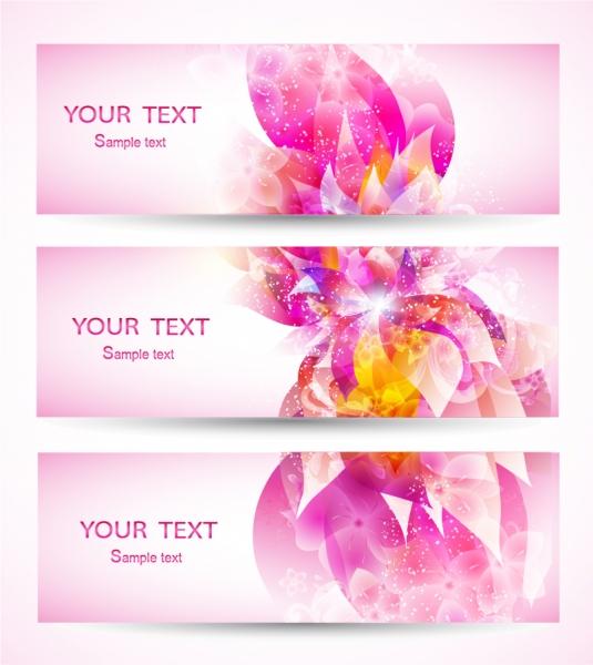 ピンクの花ビラが美しいバナー fantasy flowers background banner
