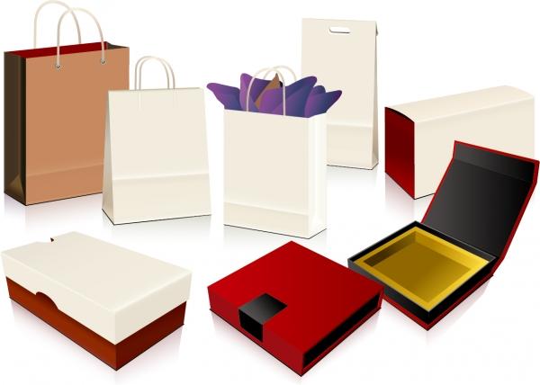 プレゼント用の梱包資材 empty shopping bag packaging