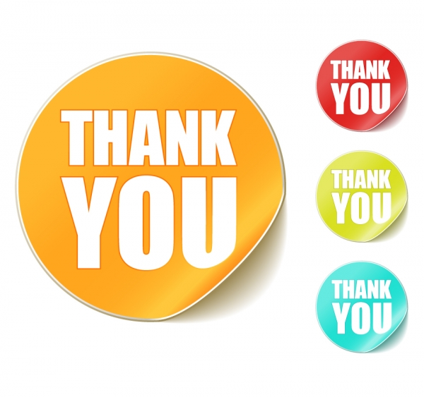 サンキュー ステッカー thank you clip art round stickers