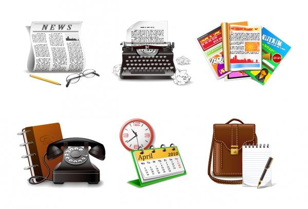 メディア業界をイメージしたクリップアート media theme icon vector1