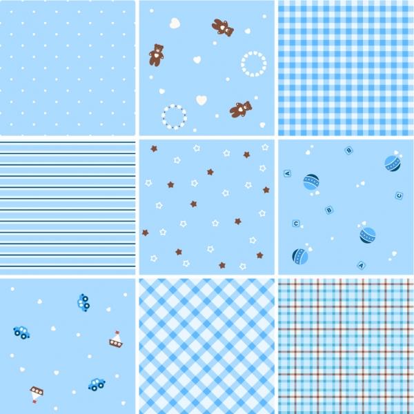 シームレスな格子縞パターン コレクション Collection of Seamless Plaid Patterns