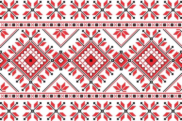 ニットで編んだ美しい模様パターン consecutive knitting patterns