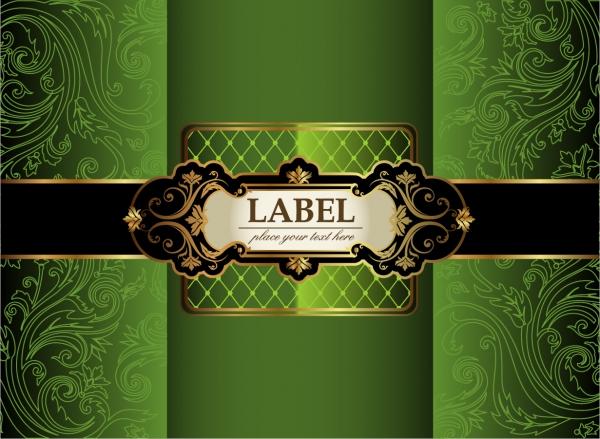 豪華な帯の装飾を施した表紙デザイン Luxury Decorative Covers