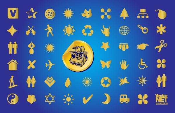 金色のシンボル アイコン Gold Symbols
