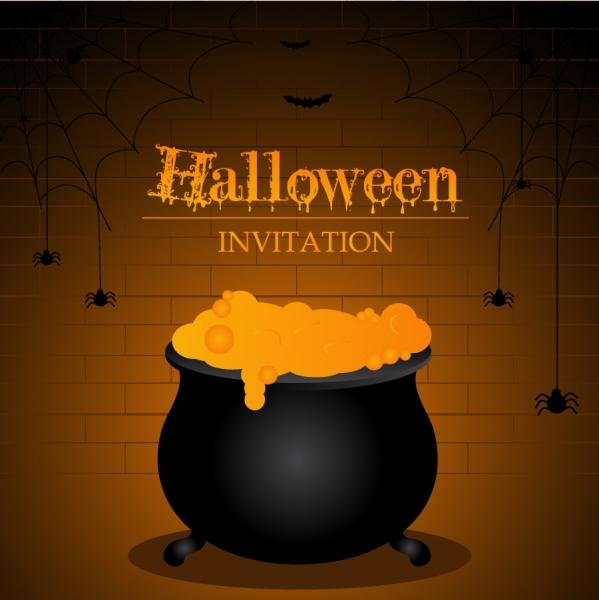 ハロウィン ポスターの背景 halloween design elements vector2