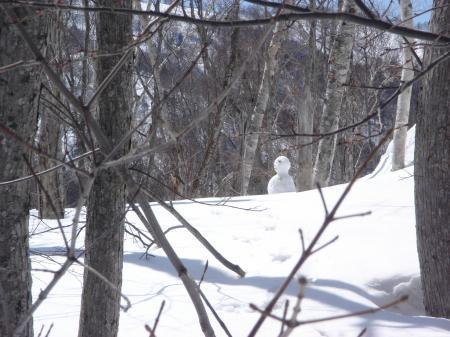 さよなら、雪だるまオヤジ…