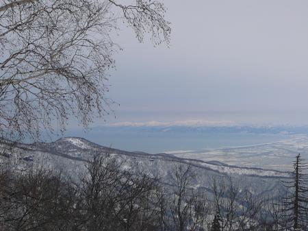 石狩湾も一望、景色は最高だね。